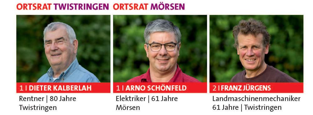 Ortsratskandidaten für Twistringen und Mörsen